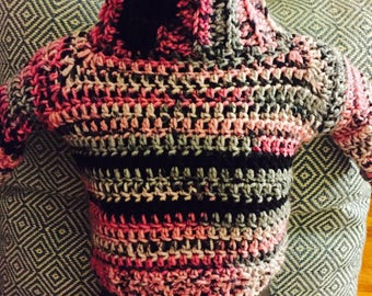 Girls Hot Pink multi color sweater