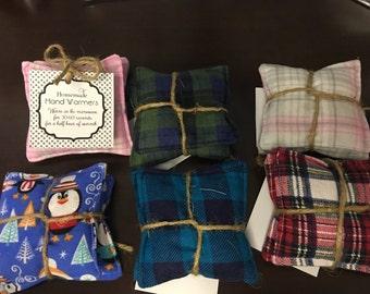 Stocking Stuffers, Reusable Handwarmers , Teacher gift, 100% Cotton, Rice filled