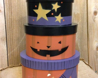 Halloween Nesting Boxes (Can be used decor, storage or Gift boxes).