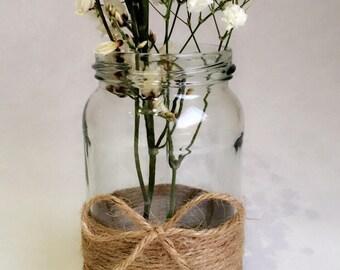 10 x vintage twine wedding jars