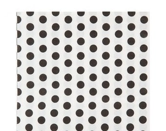 Large Black & White Polka Dot Napkins