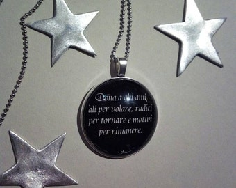 Necklace with Locket sentence