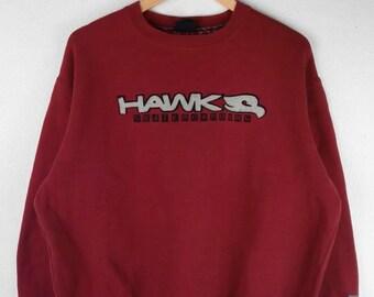 RARE!!! Tony Hawk Skater Skateboarding Big Logo Embroidery Crew Neck Red Colour Sweatshirts Hip Hop Swag L Size