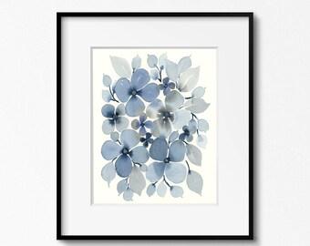 Blue Flowers 8x10 Original Art