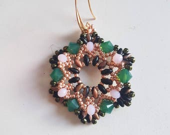 Hexagonal-shaped earrings KIT