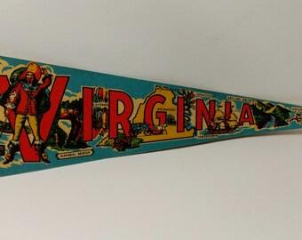 Virginia - Vintage Pennant