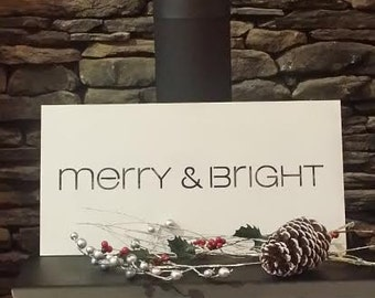 Merry & Bright Metal Wall Art