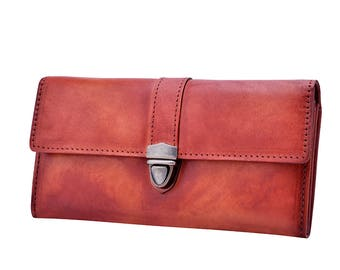 Woman Wallet, Leather Wallet for Woman, Leather Card Wallet, Long Leather Wallet, Woman Leather Wallet
