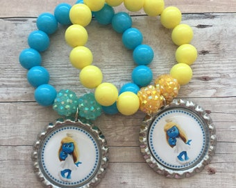 Smurfs party favors, Smurfs birthday, smurfs bubblegum bracelets, smurfs bracelets party favors, smurfs, smurfette party favors