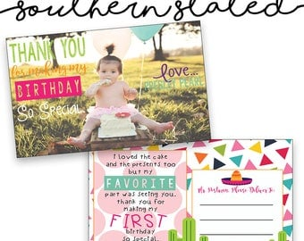 Fiesta Thank You Cards