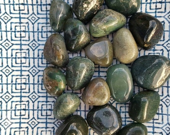 Moss Agate - Abundance, Happiness, Connection with Nature; Highly-Charged Tumbled Stone