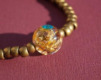 Adjustable Spring - Flower bracelet jewelry - Resin jewelry