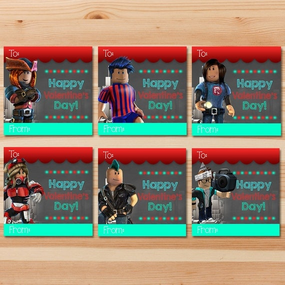 Roblox Valentine's Day Cards - Chalkboard - Roblox Valentines - Roblox Party - Roblox Printables - Roblox School Valentine's Day Cards