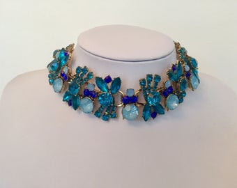 Blue Statement Necklace - discount code inside!