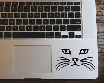 Cat face vinyl decal sticker