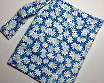 SALE - Small Blue Daisy Wet Bag