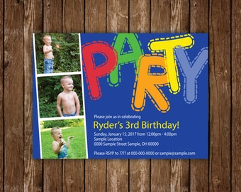 Kid Birthday Party with 3 Pictures