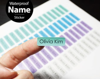 68pcs mini size personalized Waterproof name sticker for daycare, kindergarten, daycare. Customized Design and tear resistant Label.