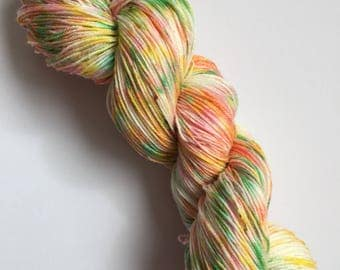 Turkish Delight Speck-Al Hand Dyed Sock Yarn 100g DYED TO ORDER
