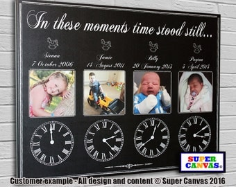 In Theses Moments personalised Canvas