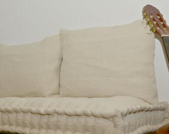 Custom Bench Cushion with Back Cushions, Window Seat Cushion, Back Cushion, Bench Pad, 2x Decorative cushions, Bench Cushion Set, Farmhouse