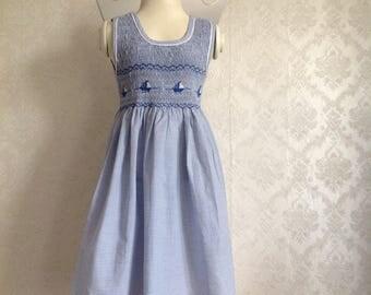 Sleeveless striped dress (sleeveless) barchetta Blue White