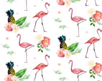 Baby Swaddle, Crib Sheet, BabyBlanket | Flamingo Bedding, Flamingos Swaddle, Flamingos Blanket, Tropical, Baby Girl Blanket