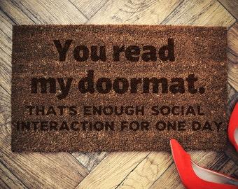You read my doormat Door Mat Welcome doormat 60x40cm coconut Custom doormat
