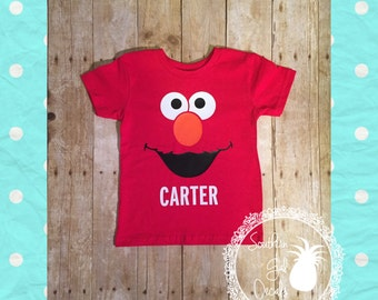 Personalized Elmo Inspired Shirt