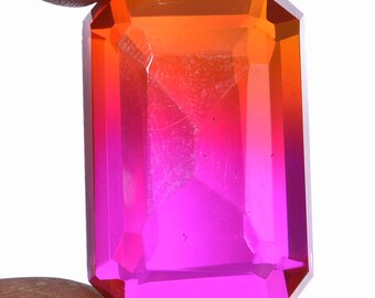 61 Ct Watermelon Bio Color Hydro Tourmaline Octagon Faceted Gem AA-24-03