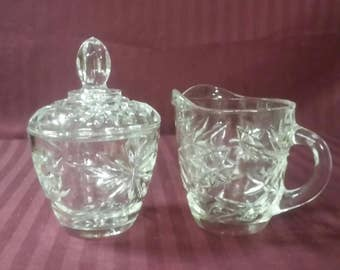 Vintage Star of David design sugar and creamer set.