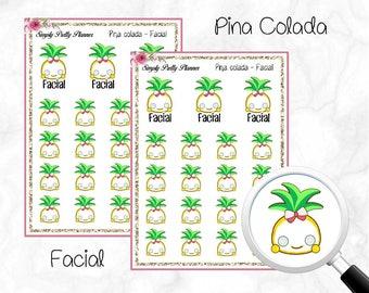 Pina Colada - Facial Decorative Icons