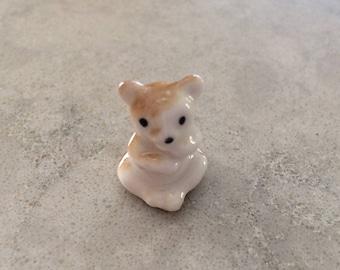 Bear Cub Teddy Ceramic Vintage Miniatures