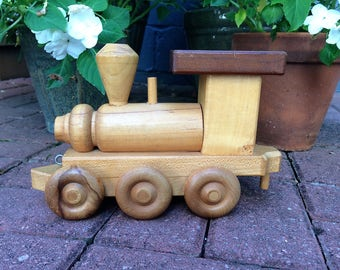 Wooden Train Engine Toy Train John West and Sons Toymakers Wooden Toy Train Engine Vintage Wooden Train Engine Wooden Toy Christmas Gift