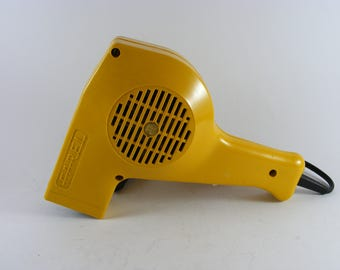 Vintage Farel SR-5 Bright Yellow 1970's Hair Dryer Made in Poland