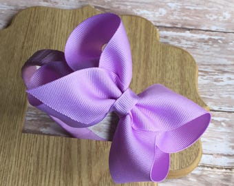 Plastic headband with boutique hair bow, back to school hair bows, summer headbands, pink headbands, lilac headbands, yellow headbands