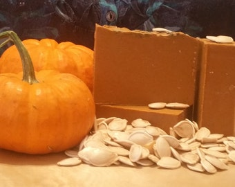 Handmade Pumpkin Organic Soap - Vegan - With Essential Oils