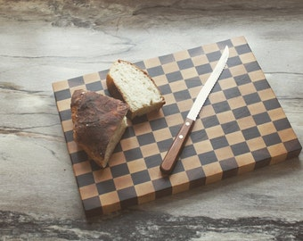 Checkered End Grain Butcher Block