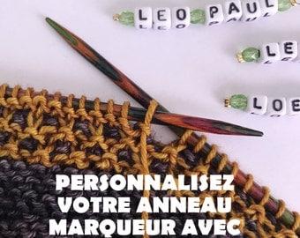 Anneau marqueur pour tricot A PERSONNALISER