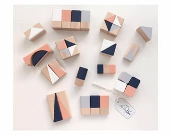 Building blocks bricks geometric patterns