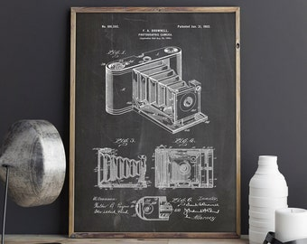 Camera Art Poster, Camera Wall Print, Vintage Camera Decor,Camera Wall Decor,Camera Poster,Camera Patent,Eastman Kodak Art, INSTANT DOWNLOAD