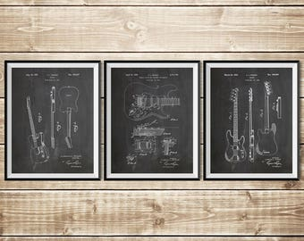 Fender Guitar Art, Patent Print Group, Fender Wall Decor, Fender Decor, Fender Art Print,Precision Bass,Fender Broadcaster, INSTANT DOWNLOAD
