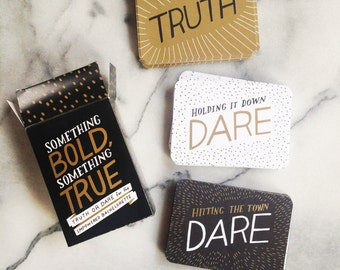 Promo! Bachelorette Truth or Dare Game - Feminist, LGBT Friendly Party Game - Something Bold, Something True
