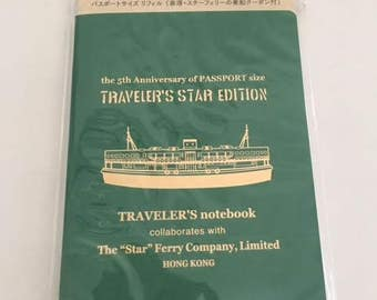 The 5th Anniversary of Traveler's Notebook Star Edition Refill Passport size Star Ferry LTD TRAVELER'S COMPANY Rare Made in Japan