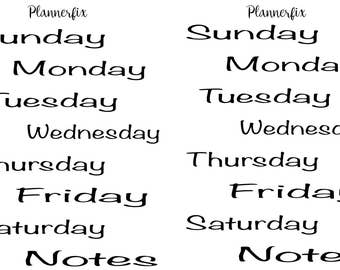 Days Of The Week (Noteworthy)
