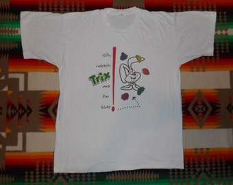 80s Trix Cereal Silly Rabbit Trix Are For Kids T Shirt Size Large Screen Stars