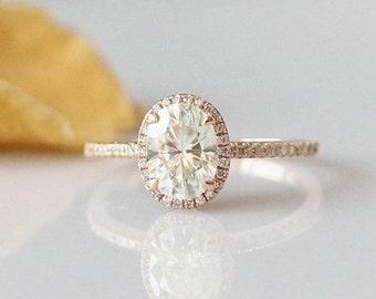 Brilliant Ring!!!6X8mm Oval Cut C & C Moissanite Ring 14k Rose Gold Moissanite Engagement Ring Rose Gold Moissanite Wedding Ring Gold Ring
