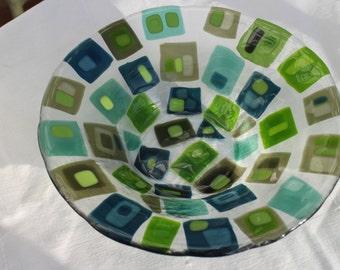 Fused Spectrum Glass Bowl