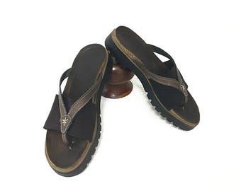 Vintage Naot Sandals Women Size 7.5 8 - Flip Flops - Thong Sandals