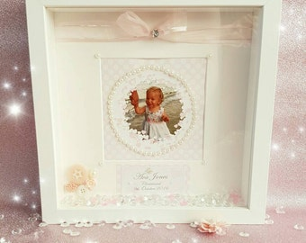 Personalised New baby/christening frame